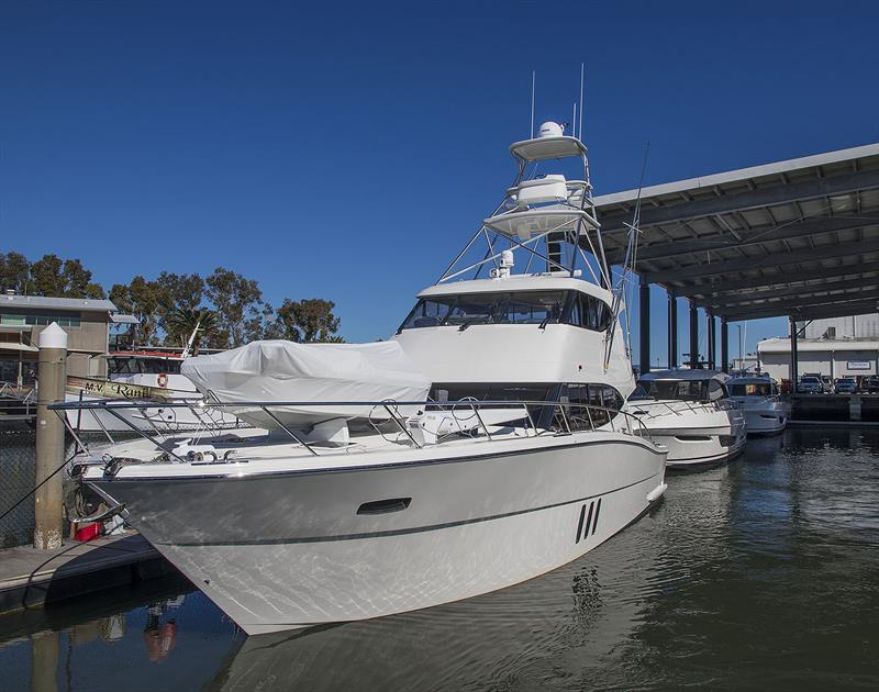 Just launched M59 by Maritimo One with loads of custom elements, including the tuna tower. photo copyright John Curnow taken at  and featuring the Fishing boat class