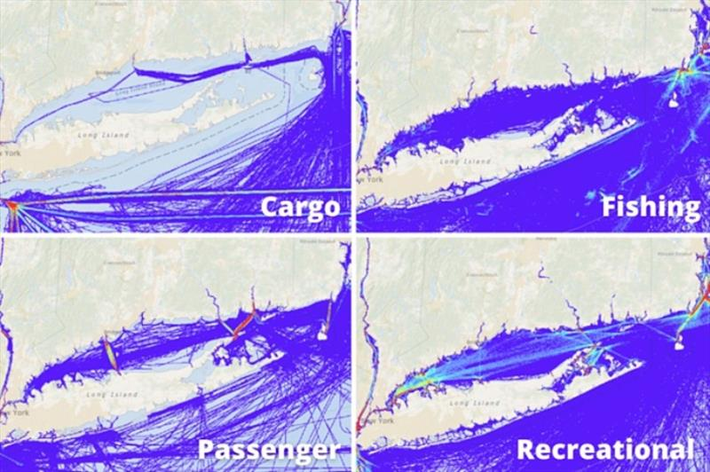 Vessels navigation in Long Island Sound photo copyright Tidetech Marine Data taken at