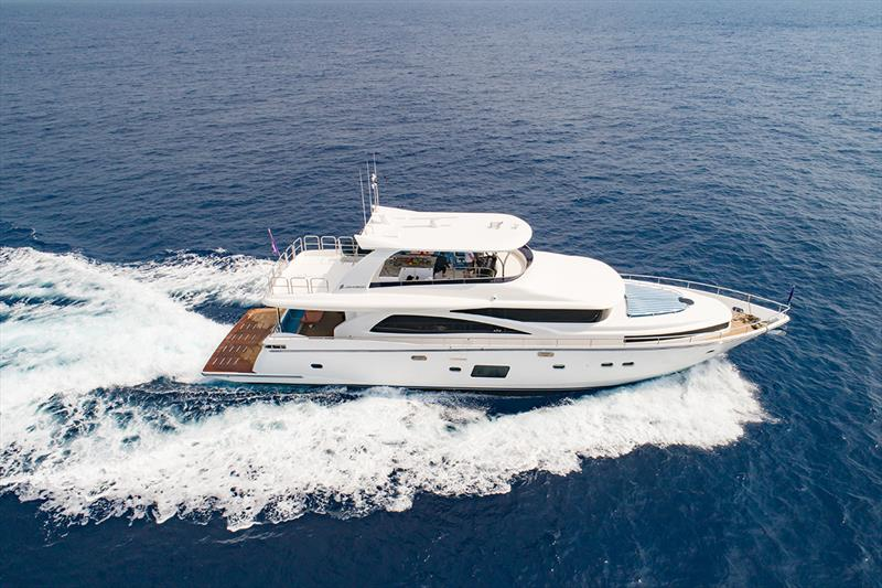 Johnson Yachts launched the entry level superyacht Johnson 80 - photo © Sand People