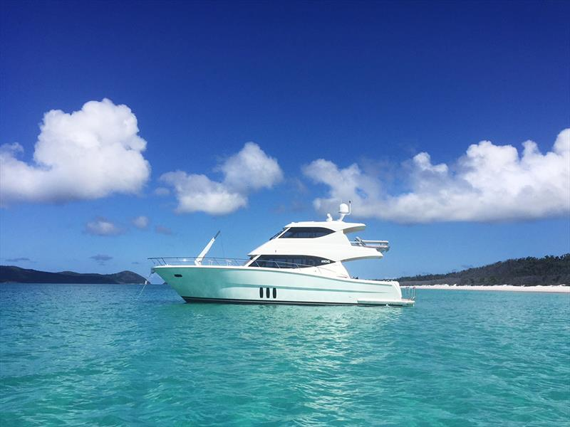 Anchored of Whitehaven Beach in the Whitsundays - photo © Paul Wilson