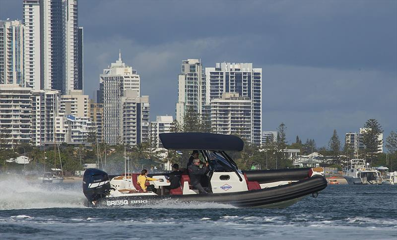'The Brig Day Out' - 8m Brig with Nizpro's wicked 450S outboard - complete thrill package... - photo © John Curnow