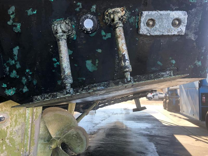 Common overprotection - loss of propeller coating and antifoul - photo © Marine Protection Systems (Australia)