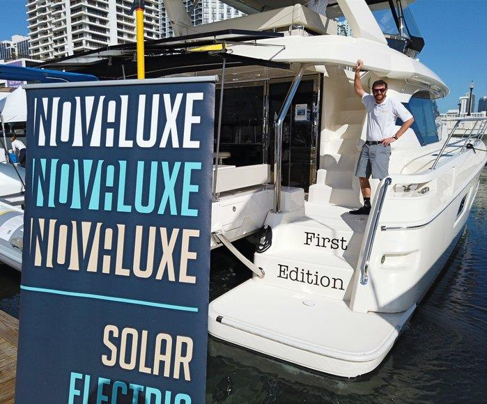 Nova Luxe Yachts at Miami Yacht Show - photo © Marc Hawxhurst