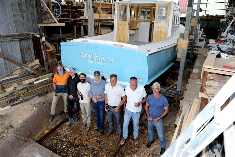 Neilma G. - The Team at Wilson's Boat Yard - photo © Evie Morton
