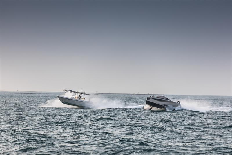 Enata Foiler photo copyright Guillaume Plisson taken at  and featuring the Power boat class