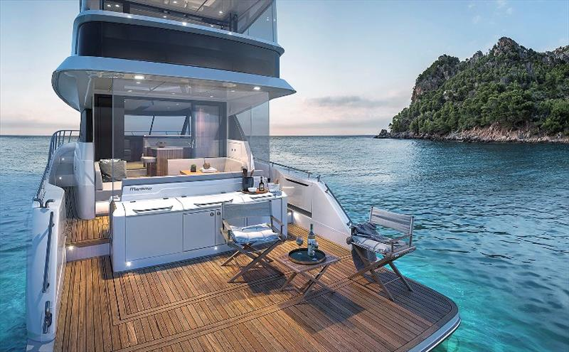 Maritimo M55 Flybridge - Cockpit - photo © Maritimo