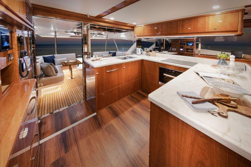 Riviera 72 Sports Motor Yacht - Galley photo copyright Riviera Australia taken at  and featuring the Power boat class