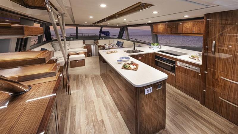 Riviera 64 Sports Motor Yacht Saloon photo copyright Riviera Studio taken at  and featuring the Power boat class