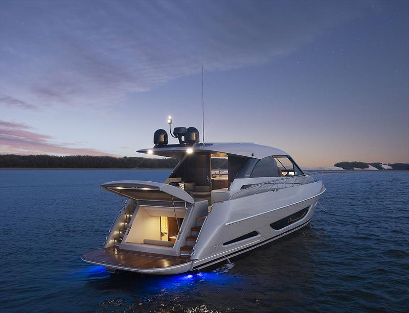 Set your mood - Maritimo X50R has as standard fitment a complete lighting package - photo © Maritimo