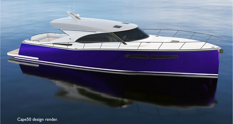 Cape50 - Combining traditional themes with a European style. - photo © Cape Motor Yachts
