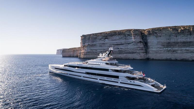 Designed in house by Benetti, Lana really is a postcard. - photo © Imperial