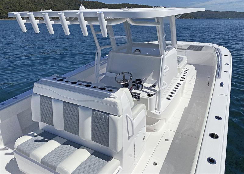 On board the Invincible 35 Powercat - photo © Boat Monster