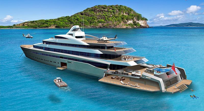 118m design from 2010 - photo © Tony Castro Yachts