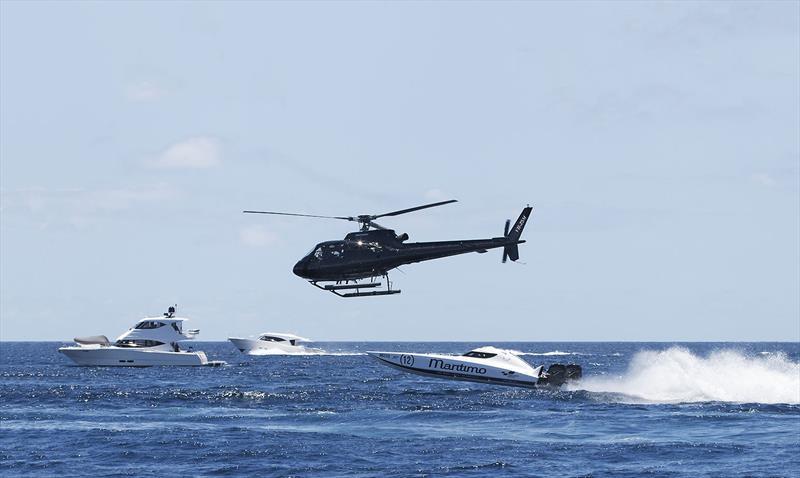 Airborne with Maritimo Racing - photo © John Curnow