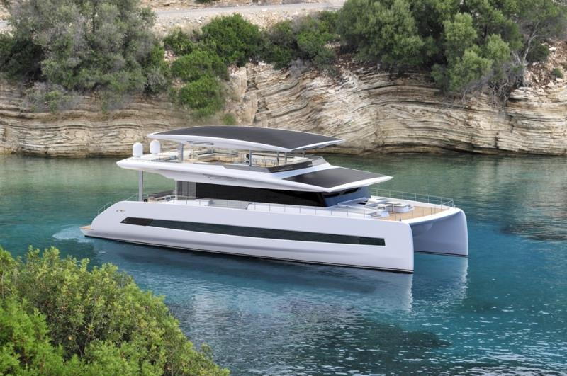 Silent 80 - 3 deck open version - photo © Silent Yachts