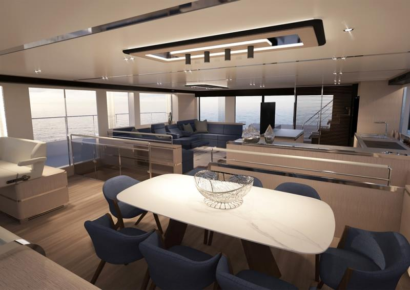 Silent 80 D Salon - photo © Silent Yachts