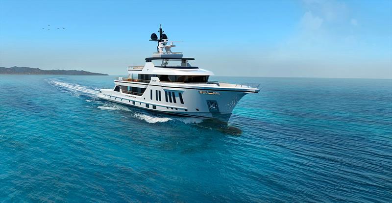The 54m, under 500GT Explorer, BowSprit - photo © Vittoria Yachts