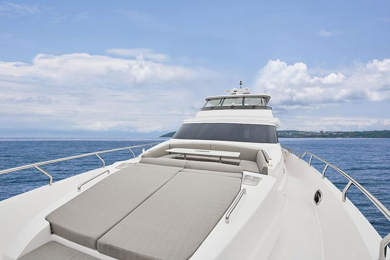 Horizon E81 foredeck photo copyright Horizon Yachts taken at  and featuring the Power boat class