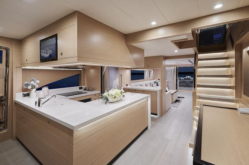 Horizon E81 galley photo copyright Horizon Yachts taken at  and featuring the Power boat class