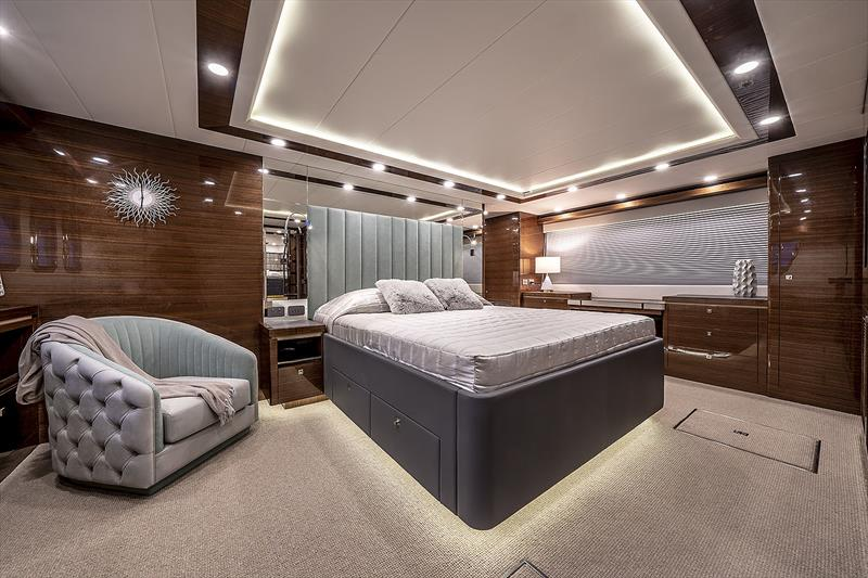 The Master Stateroom is quintessentially and totally in line with her name, Panache. - photo © Whitehaven