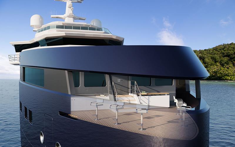 Damen Yachting SeaXplorer 105 - Observation deck with transparent view - photo © John Gauldie