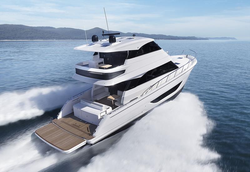 Loads of space and unbelievable connection with the water. Note the marlin platform position - New Maritimo M55 photo copyright Maritimo taken at  and featuring the Power boat class