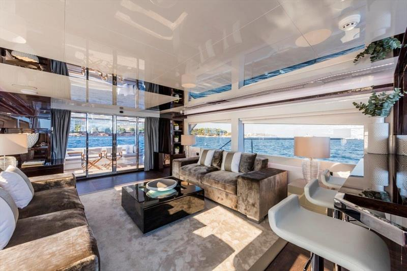Pearl 80 - Saloon photo copyright Pearl Yachts taken at  and featuring the Power boat class