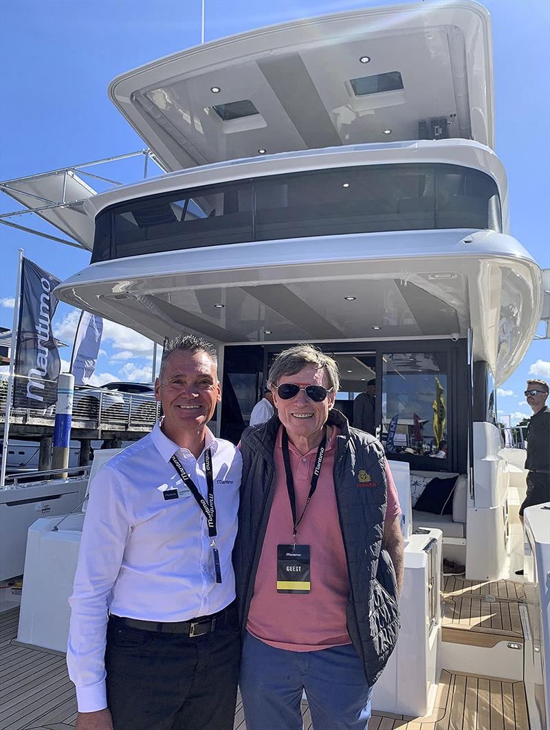 Maritimo M55 hull #2 owner David Crothers (R), with Cameron Wood (L) from Ormond Britton's Maritimo Gold Coast - photo © Maritimo