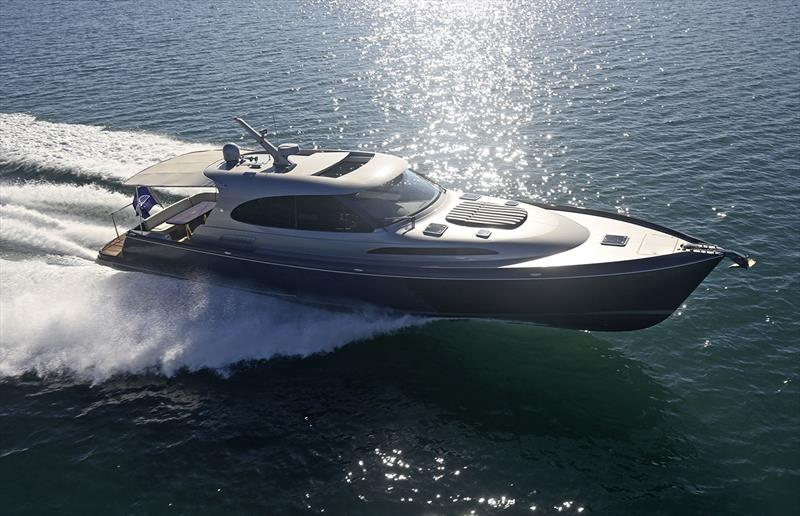 Depending on your choice of powerplants, Palm Beach's GT60 flies into the mid 30's, and well into the 40 knot bracket. - photo © Palm Beach Motor Yachts