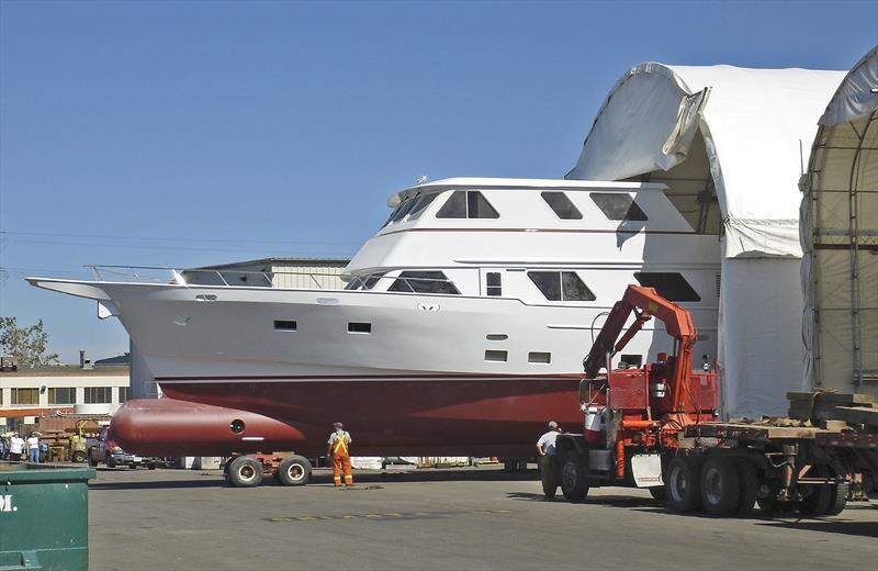 Complete package in this upgrade - bowsprit and bulbous bow - photo © Bray Yacht Design And Research Ltd