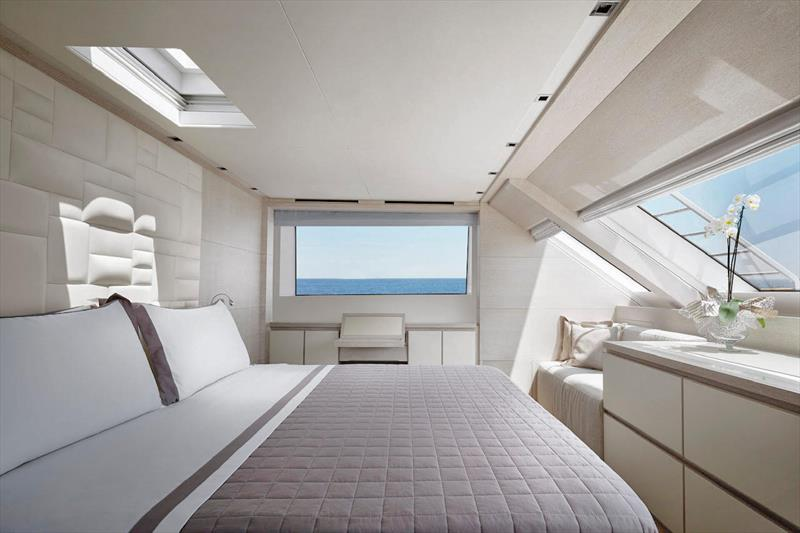 For'ard Main Deck Master Stateroom on the Sanlorenzo SD112 Tri-Deck - photo © Leigh-Smith Yachts