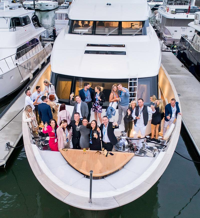 Renaming celebrations for the Sanlorenzo SD112 Tri-Deck - photo © Leigh-Smith Yachts
