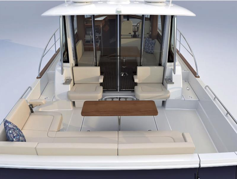 Cockpit and into the salon of the 43 Salon Express - photo © Sabre Yachts