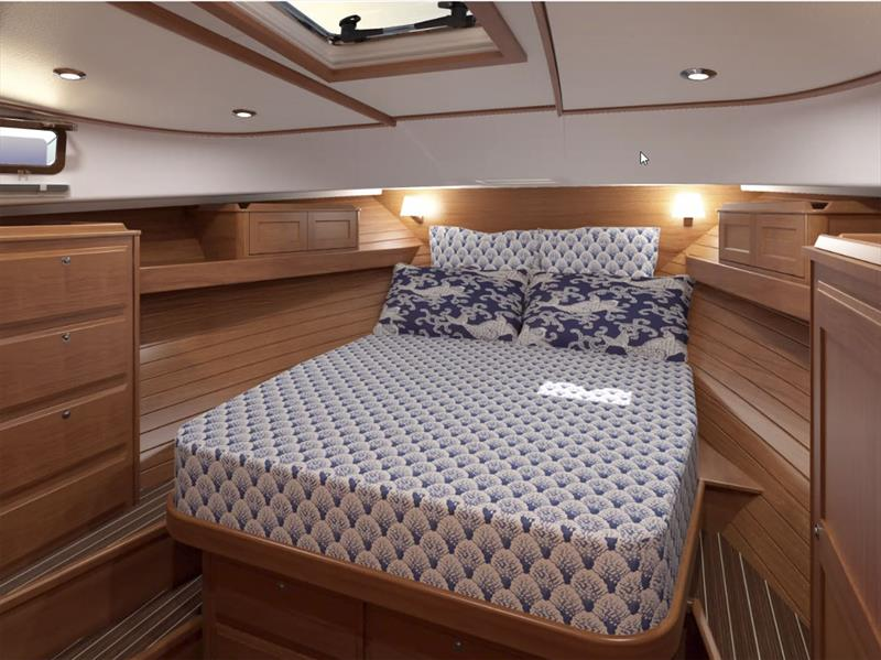 For'ard Master Stateroom of the new 43 Salon Express - photo © Sabre Yachts
